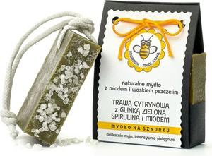 Miodowa Mydlarnia Mydło naturalne Trawa Cytrynowa z Glinką Zieloną, Spiruliną i Miodem