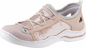 Buty sportowe Rieker w sportowym stylu ze skóry z płaską podeszwą