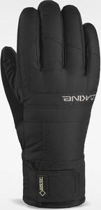 Czarne rękawiczki Dakine ze skóry w sportowym stylu