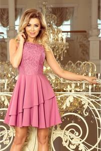 Sukienka NUMOCO bez rękawów z okrągłym dekoltem mini
