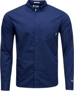 Koszula Tommy Jeans z klasycznym kołnierzykiem z bawełny