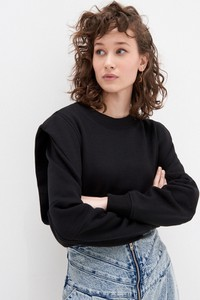 Czarna bluza House krótka w młodzieżowym stylu