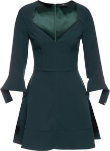 Zielona sukienka Elisabetta Franchi z długim rękawem mini