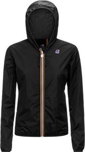 Czarna kurtka K-Way w sportowym stylu