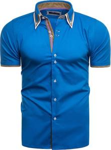 Koszula Risardi z klasycznym kołnierzykiem z krótkim rękawem