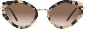 Brązowe okulary damskie Miu Miu