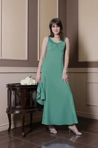 Sukienka Fokus z satyny na ramiączkach maxi