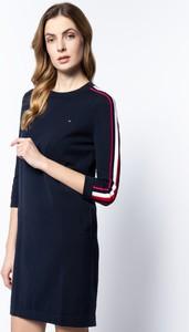 Sukienka Tommy Hilfiger mini z długim rękawem