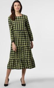 Zielona sukienka Only z okrągłym dekoltem z długim rękawem