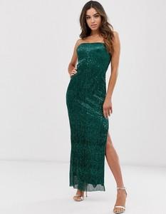 Zielona sukienka Club L London bez rękawów