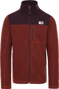 Czerwona bluza The North Face w sportowym stylu z plaru
