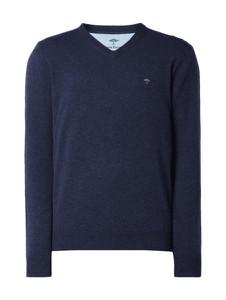 Granatowy sweter Fynch Hatton z kaszmiru w stylu casual