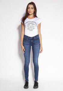 Niebieskie jeansy Lee Cooper z tkaniny