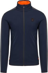 Granatowa bluza Toni Sailer w stylu casual z tkaniny