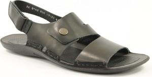 Czarne buty letnie męskie NIK