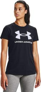 Czarny t-shirt Under Armour z krótkim rękawem