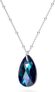 GIORRE Złocony naszyjnik z kryształem swarovskiego - migdał : Kolor kryształu SWAROVSKI - Crystal BBL, Kolor pokrycia srebra - Pokrycie Jasnym Rodem