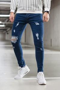 Niebieskie jeansy Duuf z jeansu