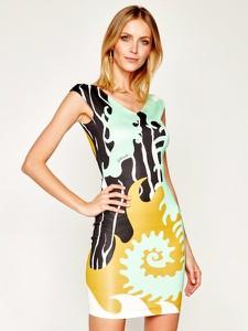Sukienka Just Cavalli z krótkim rękawem