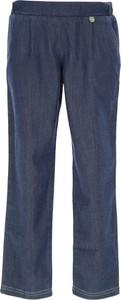 Niebieskie spodnie dziecięce Lanvin z bawełny