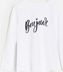 Koszulka dziecięca Reserved dla dziewczynek z bawełny
