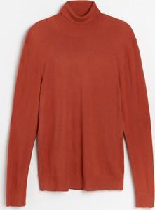 Pomarańczowy sweter Reserved w stylu casual