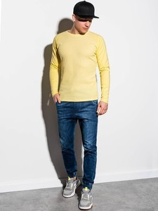 Żółta koszulka z długim rękawem Ombre z długim rękawem