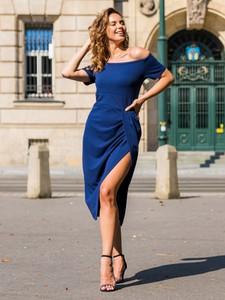 Sukienka Grandio hiszpanka z krótkim rękawem