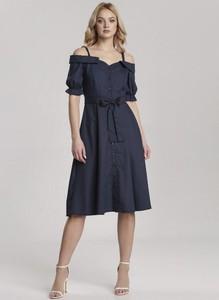 Granatowa sukienka Renee midi