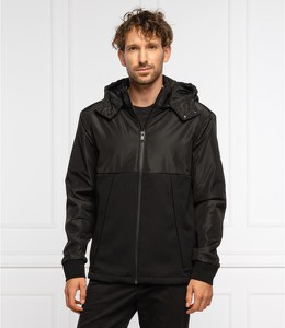 Czarna kurtka Hugo Boss w stylu casual