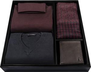 Brązowy sweter Borgio z golfem z wełny w stylu casual