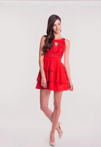 Czerwona sukienka Maravilla Boutique bez rękawów mini