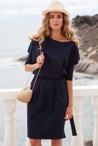 Czarna sukienka MOE midi