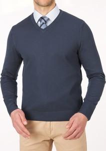 Granatowy sweter Lanieri w stylu casual