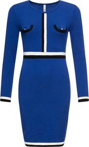 Sukienka bonprix BODYFLIRT boutique z długim rękawem w stylu retro mini