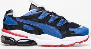 Niebieskie buty sportowe Puma sznurowane ze skóry