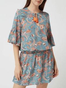 Turkusowa bluzka Esprit z krótkim rękawem z okrągłym dekoltem