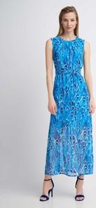 Niebieska sukienka QUIOSQUE prosta bez rękawów