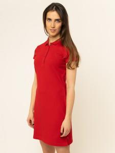 Czerwona sukienka Tommy Hilfiger trapezowa