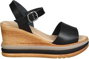 Czarne sandały Lasocki w stylu casual ze skóry z klamrami