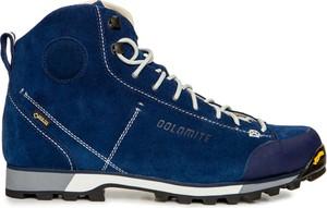 Niebieskie buty trekkingowe Dolomite z zamszu