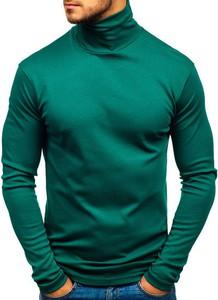 Zielony sweter Denley z dzianiny