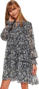 Sukienka Top Secret z okrągłym dekoltem mini koszulowa