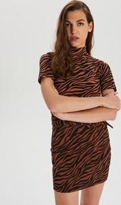 Brązowa spódnica Cropp mini