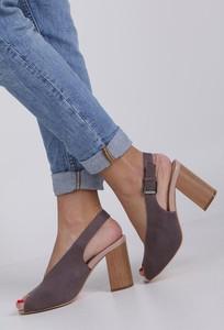 Brązowe sandały Jezzi z klamrami