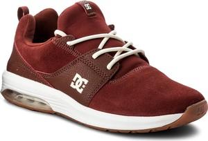 Sneakersy dc - heathrow ia adys200035 burgundy