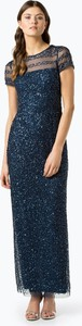 Niebieska sukienka Adrianna Papell z krótkim rękawem
