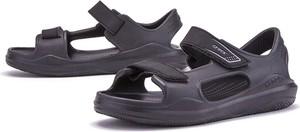 Sandały Crocs na rzepy z płaską podeszwą