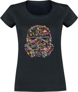 T-shirt Emp z nadrukiem w młodzieżowym stylu z bawełny