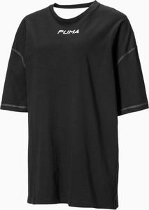 Bluzka Puma z krótkim rękawem w sportowym stylu z okrągłym dekoltem